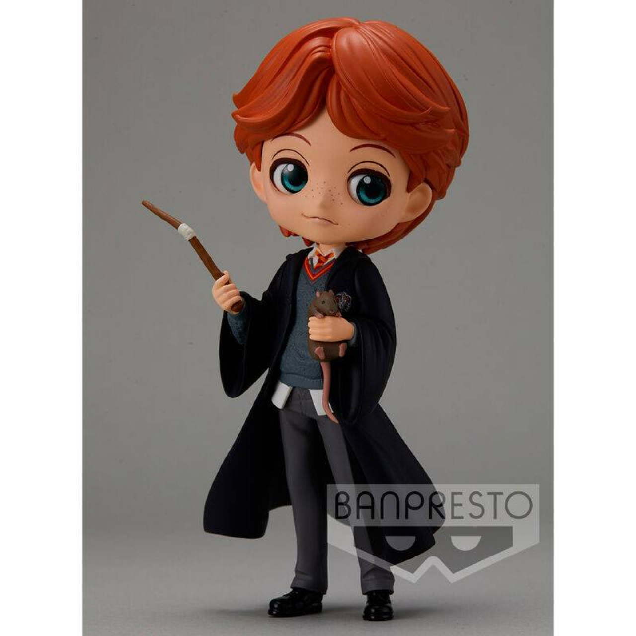Harry Potter Q Posket Mini Figure Ron Weasley with Scabbers 14 cm