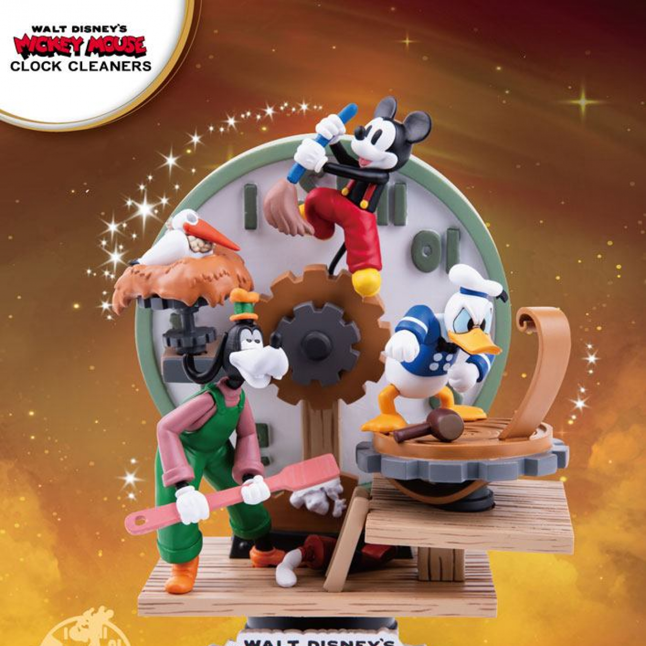 Disney Mickey Mouse D-Stage PVC Diorama Clock Cleaners 15 cm
