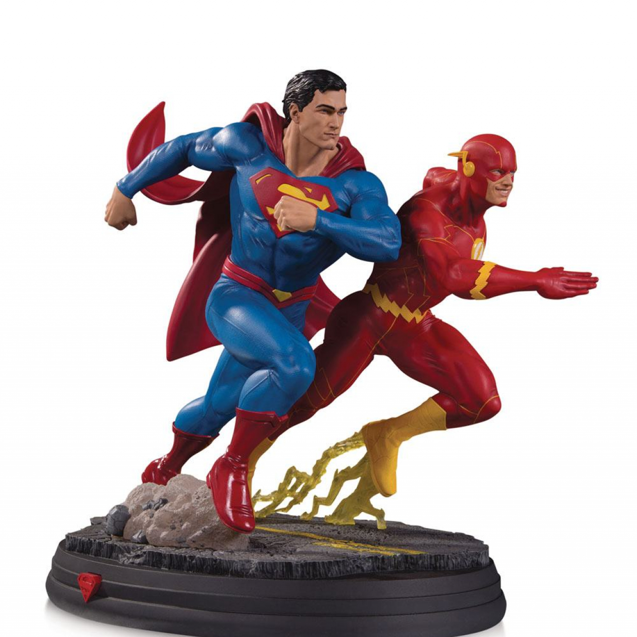 DC Gallery Statue Superman vs The Flash Racing 2nd Edition 26 cm