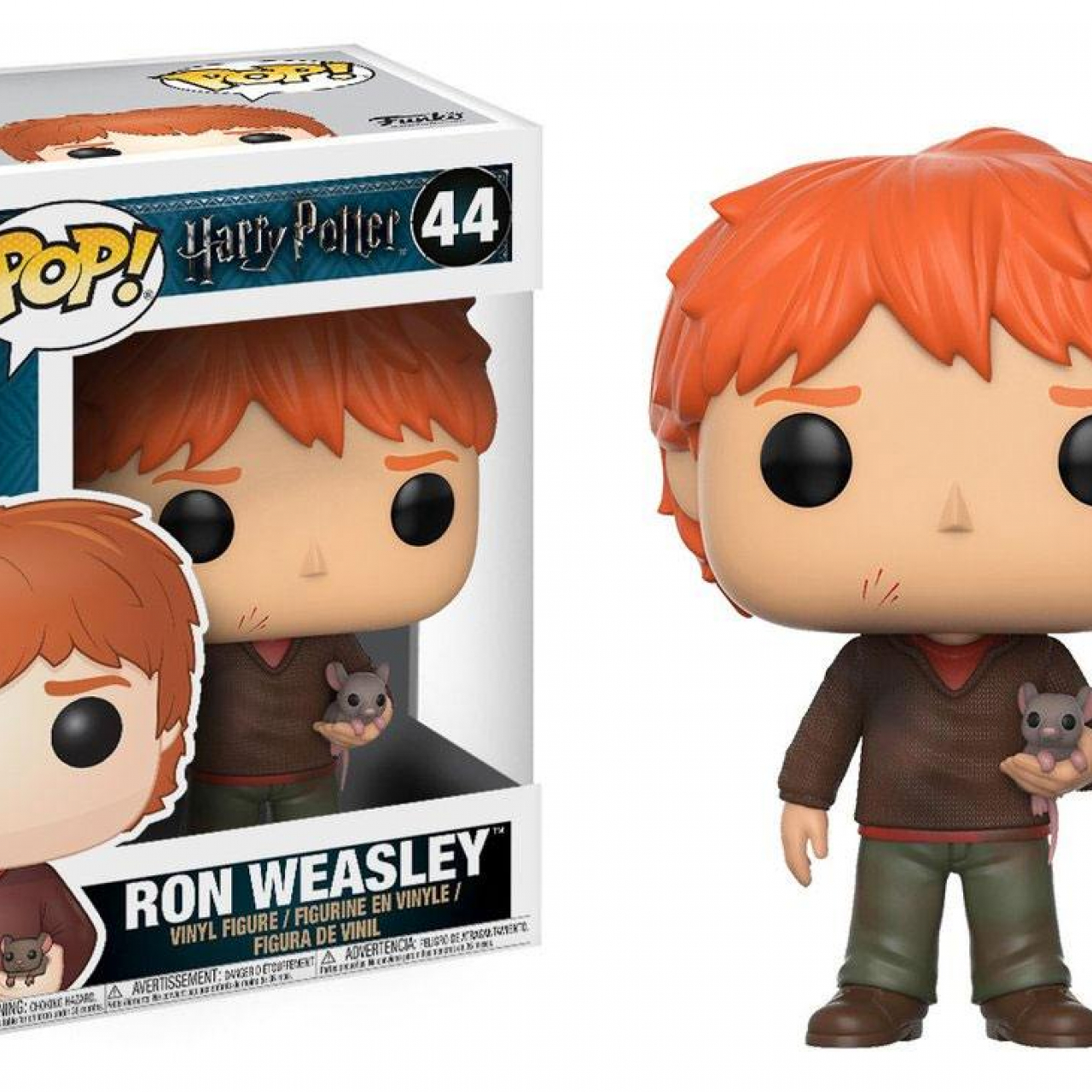 Harry Potter POP! Movies Vinyl Figure Ron Weasley with Scabbers 9 cm
