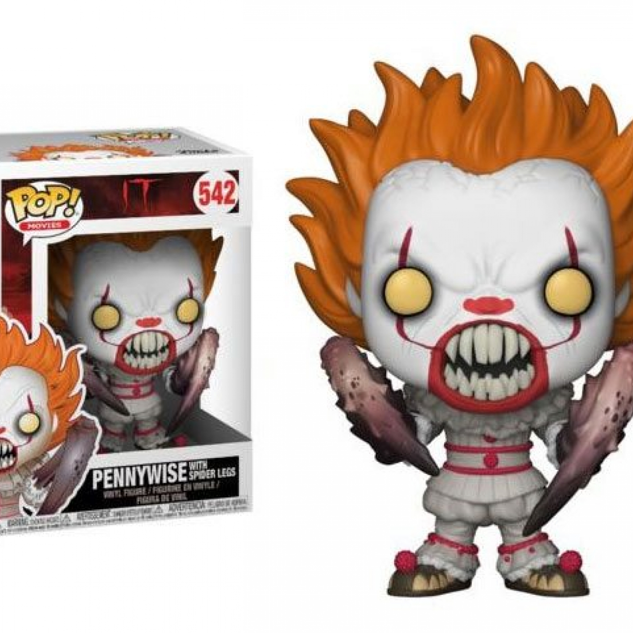 Stephen King's It 2017 POP! Movies Vinyl Figure Pennywise with Spider Legs 9 cm