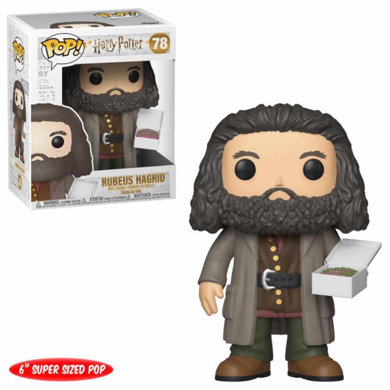 Harry Potter Super Sized POP! Movies Vinyl Figure Hagrid with Cake 14 cm