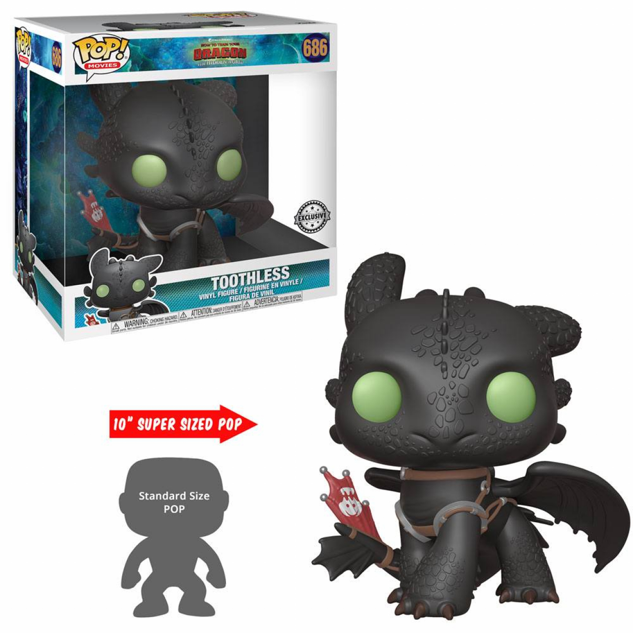 How to Train Your Dragon 3 Super Sized POP! Vinyl Figure Toothless 25 cm