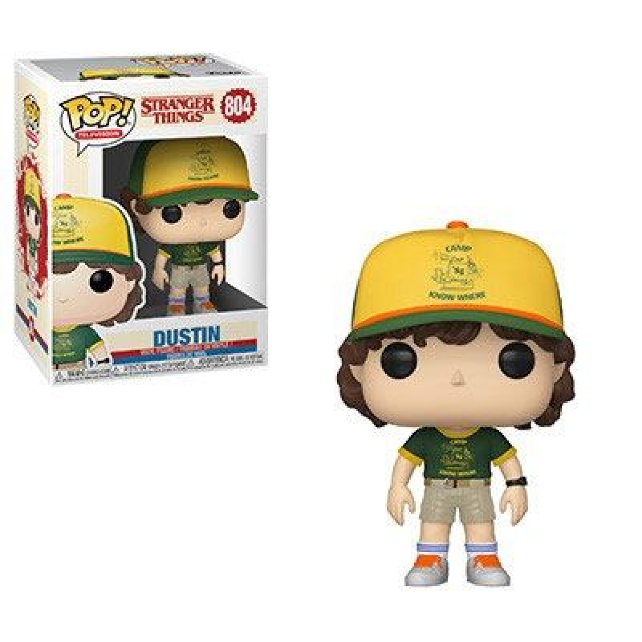 Stranger Things POP! TV Vinyl Figure Dustin (At Camp) 9 cm