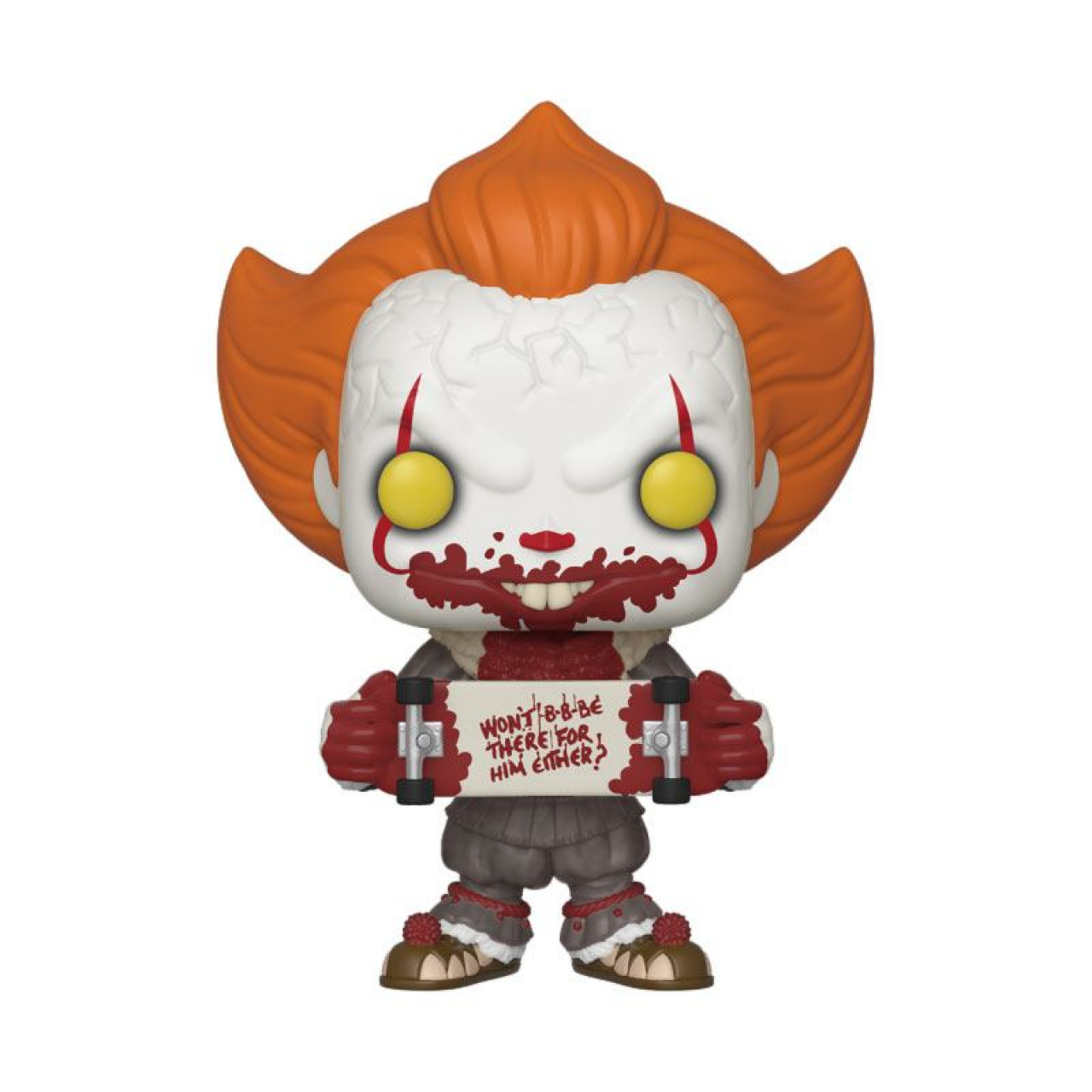Stephen King's It 2 POP! Movies Vinyl Figure Pennywise Skateboard 9 cm