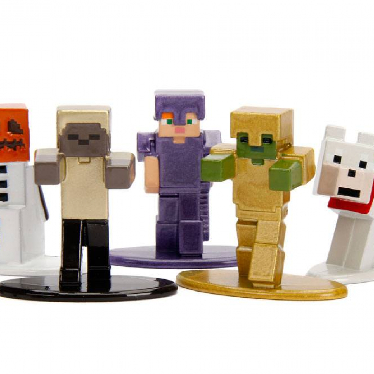Minecraft Nano Metalfigs Diecast Mini Figures 5-Pack Wave 1 4 cm