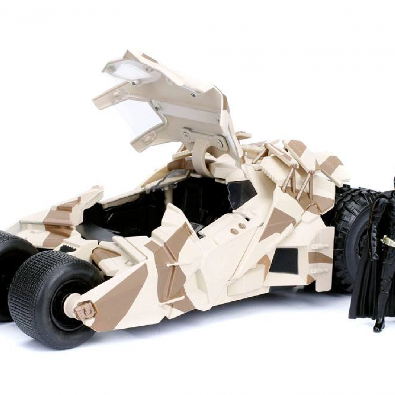 Batman The Dark Knight Diecast Model 1/24 2008 Batmobile Camo with figure