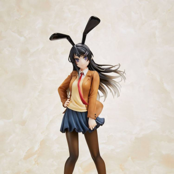 Rascal Does Not Dream of Bunny Girl Senpai Statue Mai Sakurajima Mai Uniform Bunny Ver. 23 cm