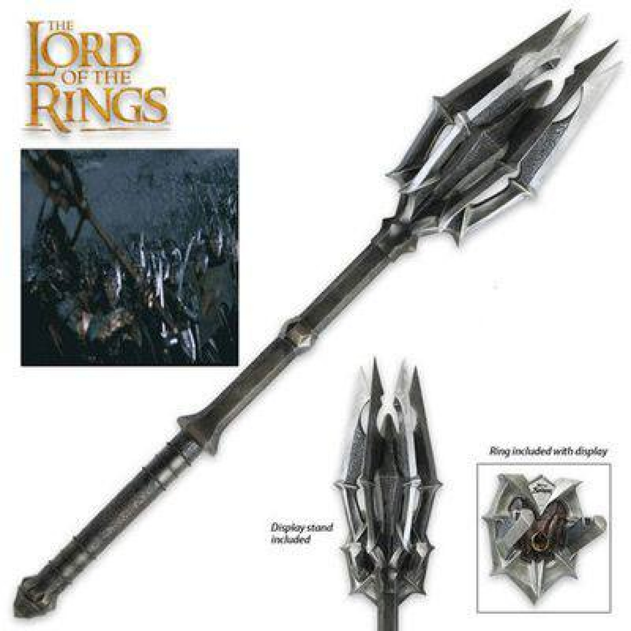 Lord of the Rings Replica 1/1 Mace of Sauron with One Ring