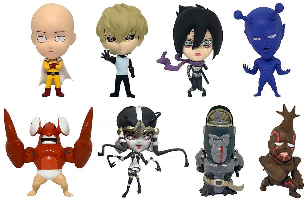 One Punch Man 16d Collectible Figure Collection PVC Figures 8-Pack Vol. 1 6 cm
